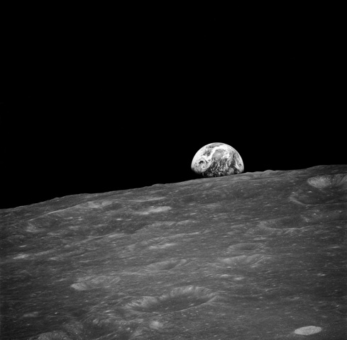 Earthrise from 1968 Apollo 8 Mission